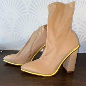 Ankle Boot with Neon Accent // BRAND NEW